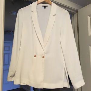 Topshop white blazer